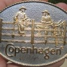 COPENHAGEN SNUFF 2-COWBOYS ON FENCE BELT BUCKLE