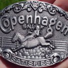COPENHAGEN SNUFF IT SATISFIES RODEO BELT BUCKLE NEW