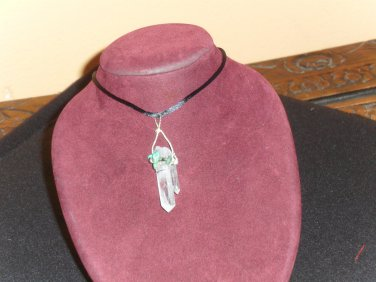 DT TABBY ARKANSAS QUARTZ CRYSTAL PENDANT 20140202
