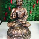 """18.2"""" Sakyamuni Bronze Buddha Statue Seated on Lotus Very Large"""