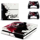 Hero alliance design skin for ps4 decal sticker console & controllers