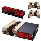 Godzilla decal for Xbox one skin sticker console