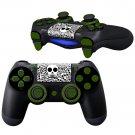 Black White Skulls design PS4 Controller Full Buttons skin