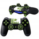 Green Leaf Texture design PS4 Controller Full Buttons skin