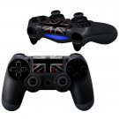 Black White UK Flag design PS4 Controller Full Buttons skin