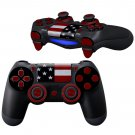 US Flag Pattern design PS4 Controller Full Buttons skin
