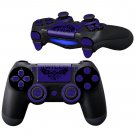 WiLD DarkBlue design PS4 Controller Full Buttons skin