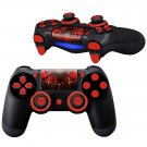 Metallic Spider design PS4 Controller Full Buttons skin