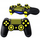 Yellow Lines design PS4 Controller Full Buttons skin