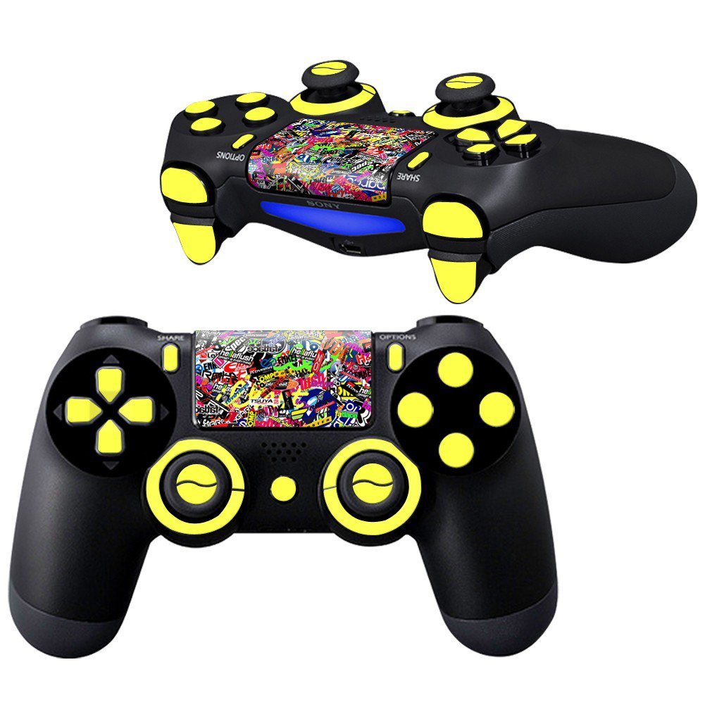Colorful Logos Design PS4 Controller Full Buttons skin