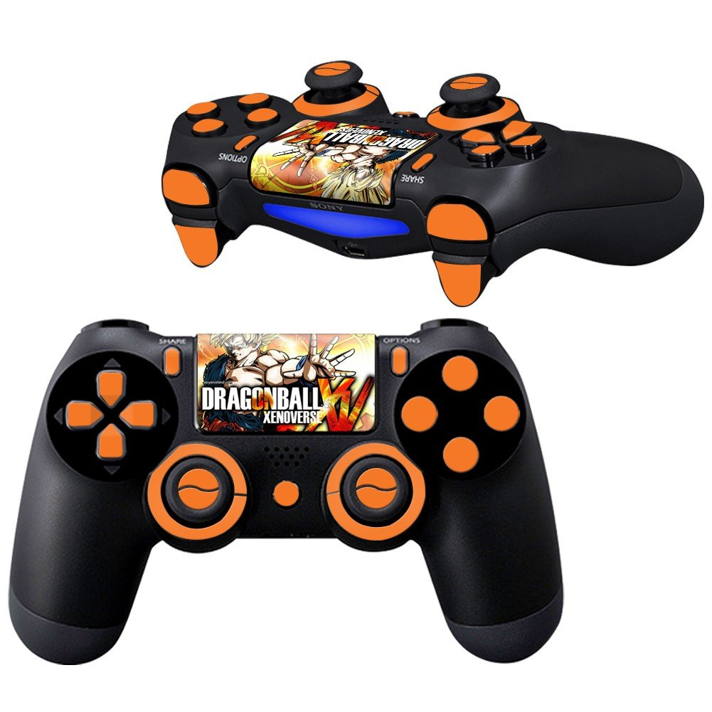 DB Xenoverse Design PS4 Controller Full Buttons skin