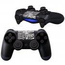 BlackWhite Floral Design PS4 Controller Full Buttons skin