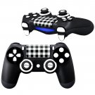 BlackWhite Tartan Design PS4 Controller Full Buttons skin