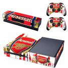Arsenal Green design skin for Xbox one decal sticker console