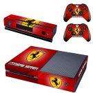 Scuderia Ferrari design skin for Xbox one decal sticker console