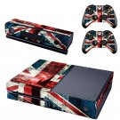 UK Flag Color design skin for Xbox one decal sticker console