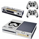 Storm Trooper First Order design skin for Xbox one decal sticker console