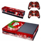 Merry Christmas design skin for Xbox one decal sticker console