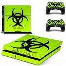 Biohazard design decal for PS4 console skin sticker decal-design