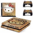 Hallo Kitty design decal for PS4 console skin sticker decal-design