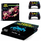 Space Invaders design decal for PS4 console skin sticker decal-design