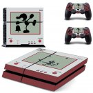 Super Smash Bros design decal for PS4 console skin sticker decal-design