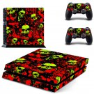 Skulls Blood design decal for PS4 console skin sticker decal-design