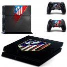 Atletico Madrid decal for PS4 PlayStation 4 console and 2 controllers