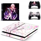 Yukari Yakumo decal for PS4 PlayStation 4 console and 2 controllers