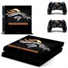 Denver Broncos decal for PS4 PlayStation 4 console and 2 controllers