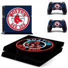 Boston Red Sox decal for PS4 PlayStation 4 console and 2 controllers