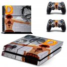 One Piece Portgas D Ace decal for PS4 PlayStation 4 console and 2 controllers