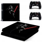 Darth Vader decal for PS4 PlayStation 4 console and 2 controllers