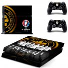 UEFA Euro2016 France decal for PS4 PlayStation 4 console and 2 controllers