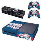 Clippers Basketball Team skin decal for  Xbox one console and 2 controllers