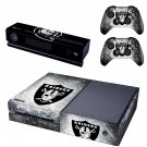 Raiders skin decal for  Xbox one console and 2 controllers