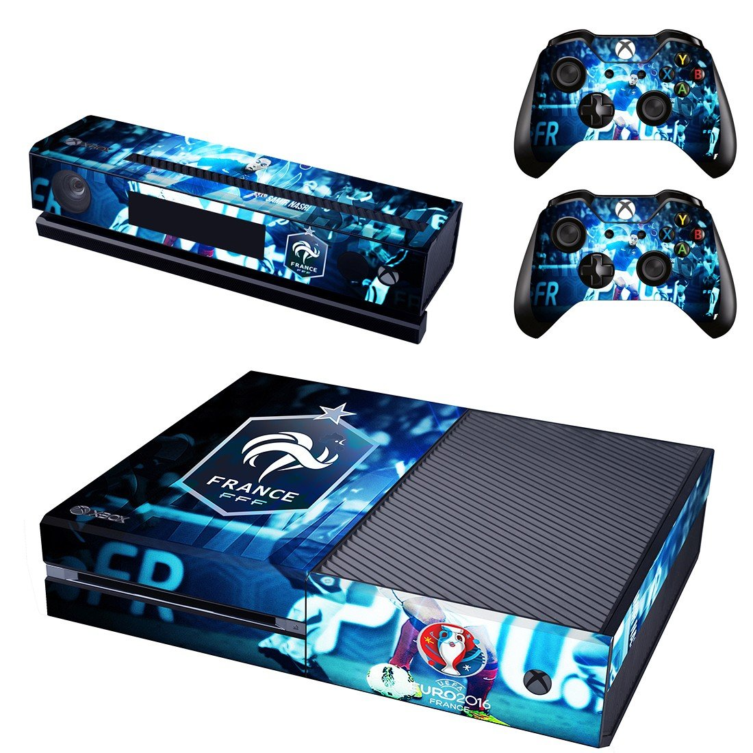 Euro2016 France skin decal for  Xbox one console and 2 controllers