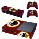 Washington Redskins skin decal for  Xbox one console and 2 controllers