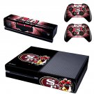 San Francisco 49ers skin decal for  Xbox one console and 2 controllers