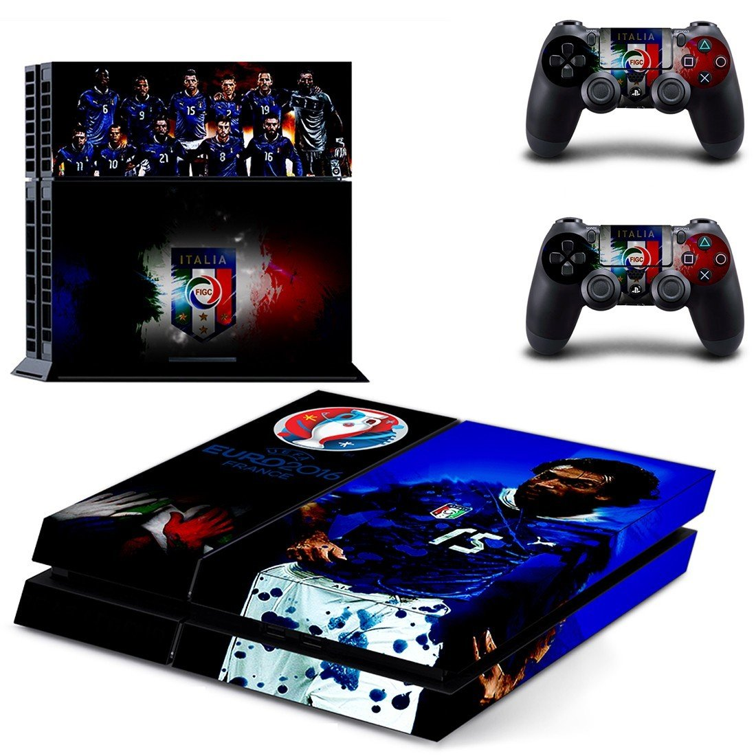 italian football team ps4 skin decal for console and controllers