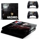 belgium national football team ps4 skin decal for console and controllers
