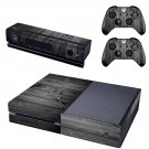 wooden board black skin decal for  Xbox one console and controllers