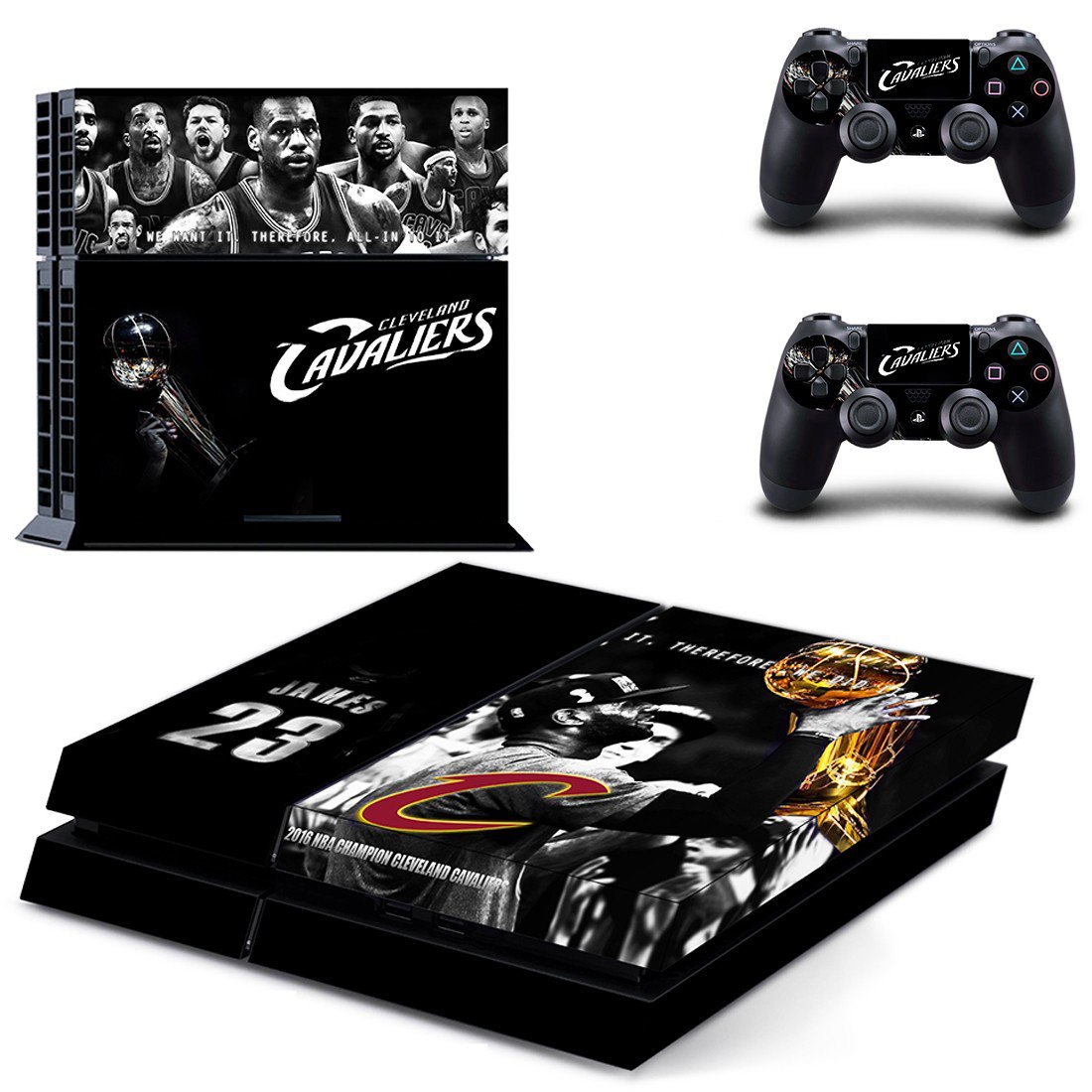 claveland cavaliers ps4 skin decal for console and controllers