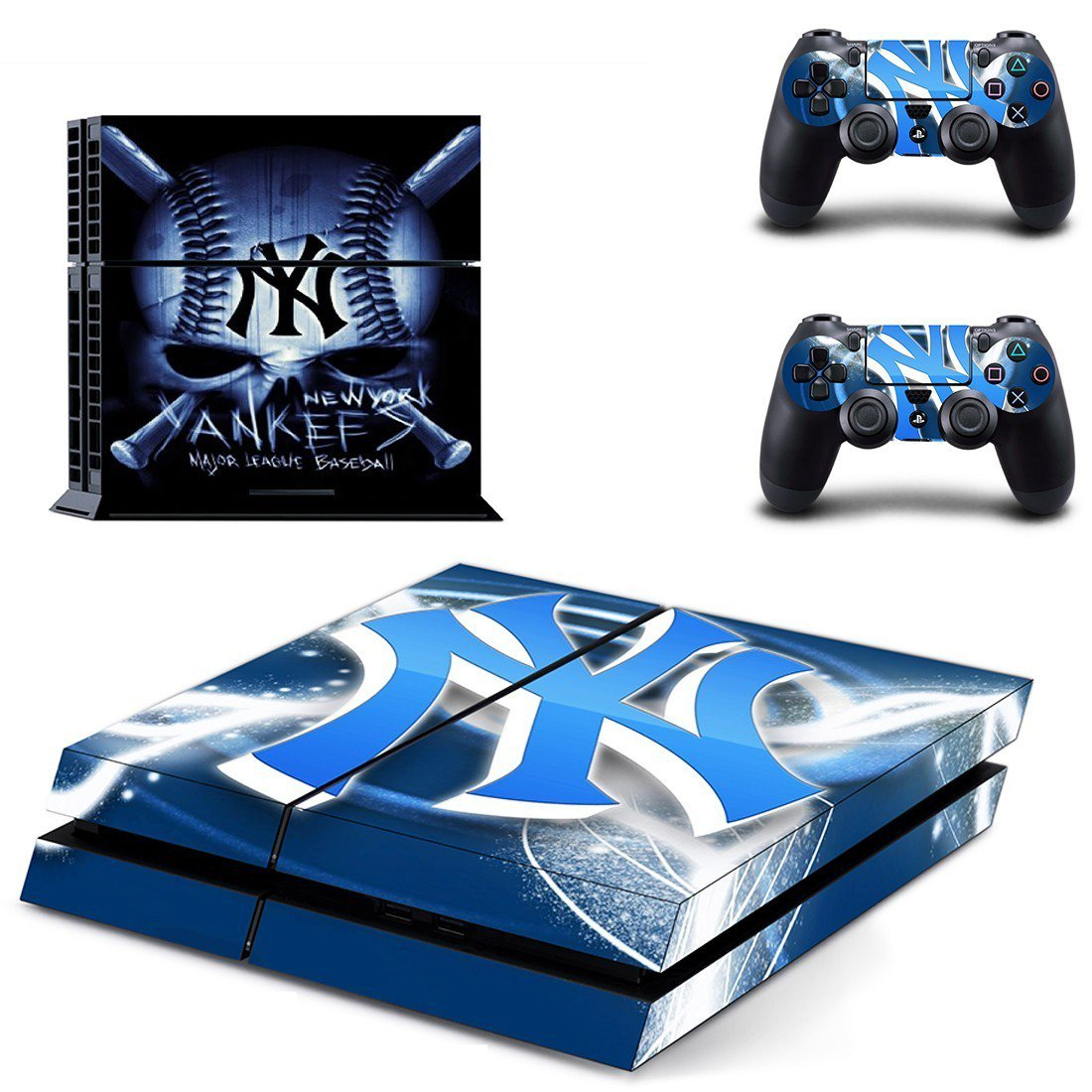 new york yankees baseball team ps4 skin decal for console and controllers