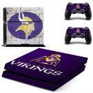 minnesota vikings ps4 skin decal for console and controllers