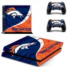 broncos ps4 skin decal for console and controllers