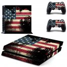 blurry american flag ps4 skin decal for console and controllers