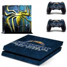metallic spider & san diego chargers ps4 skin decal for console and controllers