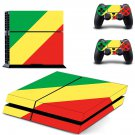 tri color ps4 skin decal for console and controllers