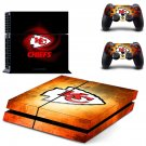 kansas city chiefs football club ps4 skin decal for console and controllers